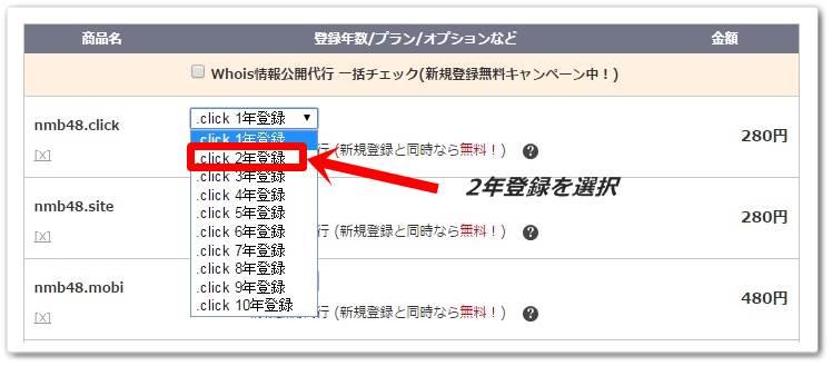 お名前.COMで格安ドメインを取得する方法